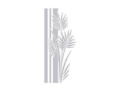 GRAZDesign Fenstertattoo Wellness/Banner mit Palmen-Blätter, Fensterfolie fürs Badezimmer, Glastattoo für Dusche / 93x40cm
