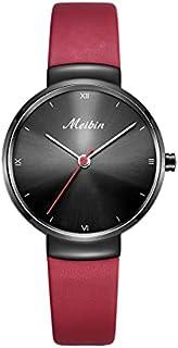 Meibin Analog Wrist Watch Leather Water Resistant For Women, M1136-RB
