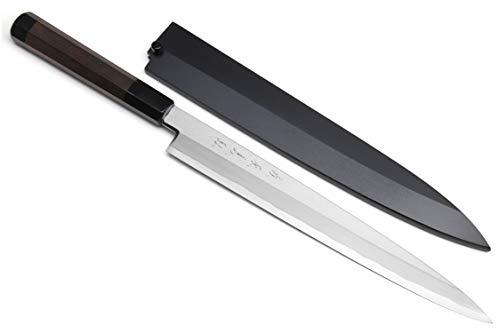 Yoshihiro Aonamiuchi Blue Steel #1 Yanagi Sushi Sashimi Japanese Knife (11.8'' (300mm), Rosewood Handle)