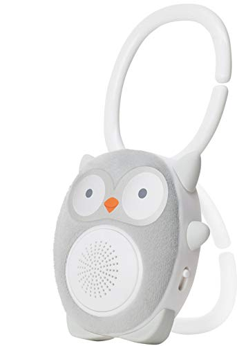 WavHello SoundBub, White Noise Machine and Bluetooth Speaker | Portable and Rechargeable Baby Sleep Sound Soother  Ollie The Owl, Grey
