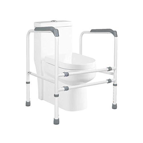 RVTYR Freistehende Toiletten Rahmen WC Rahmen mit Einstellbarer Höhe und Breite Eldery Behinderte und Behindertenhilfe gehbock mit räder (Color : Gray)
