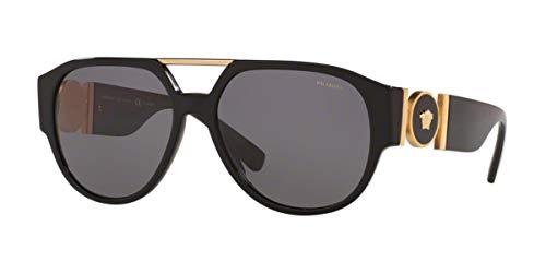 Versace 0VE4371 Gafas, BLACK/GREY, 58/16/140 Eyewear