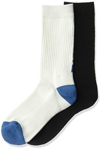 Oakley Mens Herren Back Logo (2 PCS Pack) Legere Socken, weiß, Large
