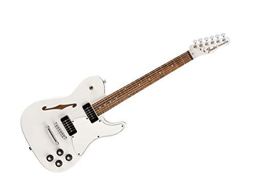 Fender Jim Adkins JA-90 Telecaster Thinline Color blanco adaptador de cable