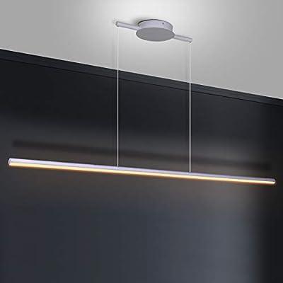 Zicbol Kitchen Island Pendant Lighting 40.94 Inch Linear Light Fixture Chandelier 16W 3000K Warm Light Dimmable LED Hanging Light Fixture for Dining Room, Kitchen, Breakfast Bar, Living Room White