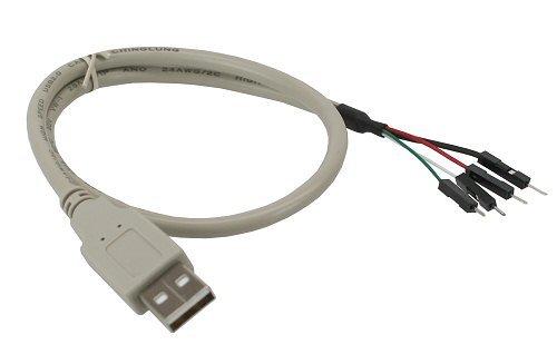 Inline USB 20 Adapterkabel Stecker A auf Pfostenstecker 04m