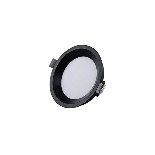 Mumnk Negro tradicional LED Panel de techo de la lámpara empotrada ultrafina de acrílico redondos Comercial Integrado Spotlight antideslumbrante Galería del pasillo del pasillo decoración de la ilumin