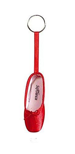 Llavero de mini zapatilla de ballet, rosa, roja, dorada, plateada, negra, morada, rosa fuerte, lila, azul, borgoña, rojo, talla única