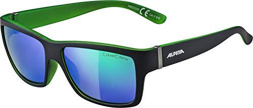 ALPINA KACEY Sportbrille, Unisex– Erwachsene, black matt-green, one size