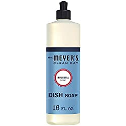 Mrs. Meyer's Clean Day Liquid Dish Soap, Bluebell Scent, 16 Ounce Bottle