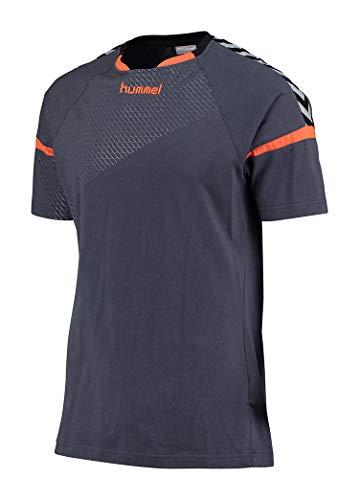 Hummel Herren Auth Charge Ss Train Jersey T-shirt, Ombre Blue/Nasturtium, M