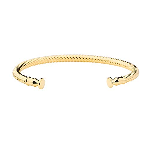 PAUL HEWITT Armreif Gold Damen ROCUFF - Damen Armreif offen, Armreifen Gold in Segeltau-Optik