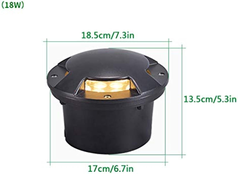 LED Bodeneinbaustrahler,Eingebettet LED Scheinwerfer Draussen Wasserdicht Licht Weies Licht Warmes Licht Wahlweise (Farbe   Weiß light-18W)