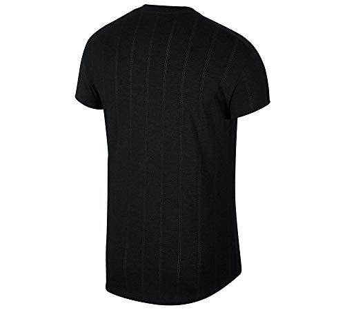 Nike M NKCT CHLLNGR Top SS, T-Shirt Uomo, Black/(White), L