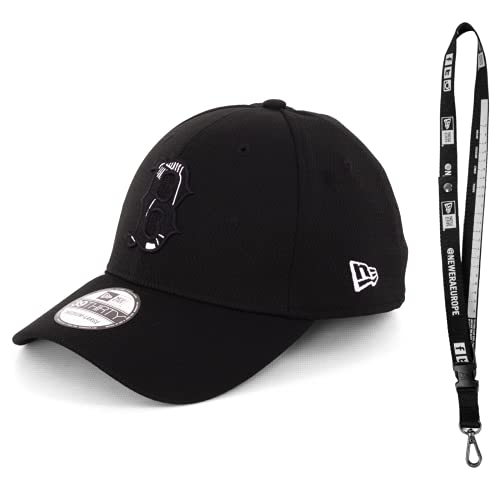 New Era 3930 Caps – Caps con Flex en diferentes tamaños – Gorra de la NFL para el verdadero fan del fútbol – Incluye llavero Boston Red Sox Black M/L