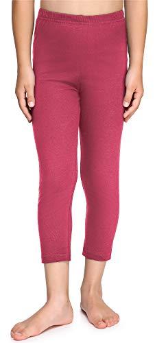 Merry Style Leggins Mallas Pantalones Piratas Ropa Deportiva Niña MS10-226(Rosa, 110 cm)