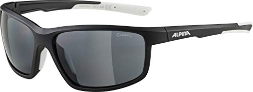 ALPINA Unisex - Erwachsene, DEFEY Sportbrille, black-white matt, One Size