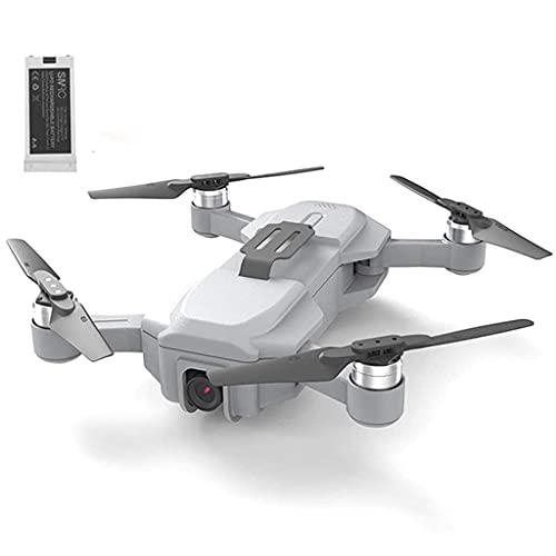 JJDSN GPS Drone WiFi FPV 4K HD Cámara Plegable, Selfie Quadcopter Video Helicóptero RC Motor sin escobillas Juguete de Flujo óptico para niños, Batería Individual