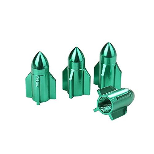 4 Pcs Tapas de Válvula Vástago Llanta, MoreChioce Unidades de Tapas de Válvula de Vástago de Neumático de Coche a Prueba de Polvo Tapones de Válvula Aleación Aluminio Válvula del Neumático,Ver