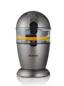 SEVERIN CP3537 Exprimidor de cítricos automático con 1 cono exprimidor multitamaño, 50 W, capacidad de 400 ml, color gris metalizado y negro