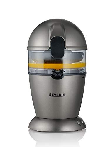 Severin CP 3537 Spremiagrumi con spremitura Completamente Automatica, Cono Multisize, Easy Clean, Sistema antigoccia, Silenzioso, 400 ml, 50 W, BPA Free, Grigio