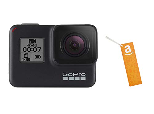 GoPro HERO7 Black — Waterproof Digital Action Camera with Touch Screen 4K HD Video 12MP Photos with Amazon.com $50 Gift…
