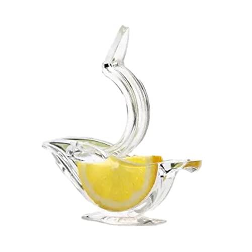 PINYUE Exprimidor de limón Manual acrílico exprimidor de rodajas de limón Conveniente exprimidor de Frutas Transparente para la Cocina casera