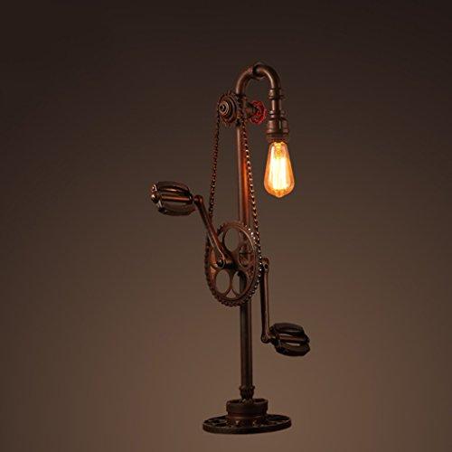 Bonne chose lampe de table Rétro lampe de table de style industriel Loft Bike Modeling Lampe de table Chaîne Éclairage Lampe de salon