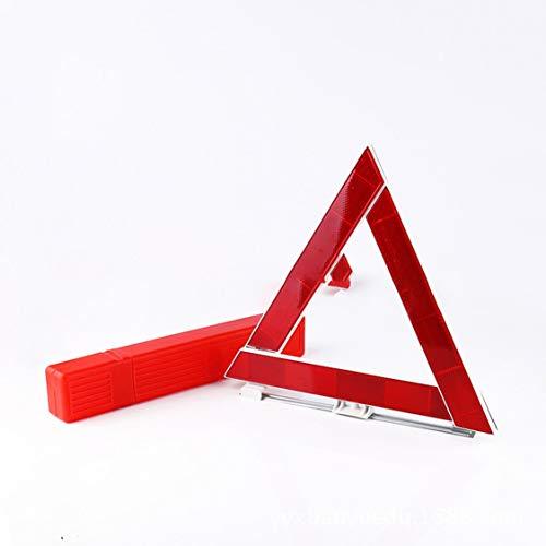 Dynamovolition Panneau de signalisation de Panne d'urgence de véhicule de Voiture Triangle réfléchissant de sécurité routière Pliable réfléchissant de sécurité routière - Rouge