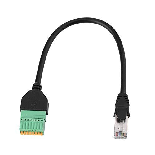 Cable adaptador RJ45, conector macho RJ45 no soldado a conector de resorte de 8 pines, cable adaptador de bloque de terminales para VGA, HDMI, CCTV, red