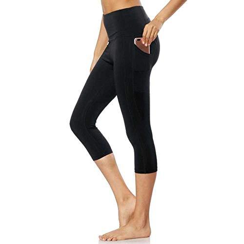 Yoga Fitness Pantalon Pour Femmes Taille Haute Moda Exercice Leggings Sport Femmes Séchage Rapide Collants de Course Leggins Active Wear - Noir - 90