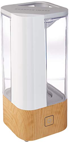 Sharper Image UHS1-SI Ultrasonic Cool Mist Humidifier, 1 Gallon (3.8L), 2 Settings, Auto Shut-Off, Illuminated Touch Control, Low Water Indicator, Easy Fill and Clean Tank, Ash Woodgrain