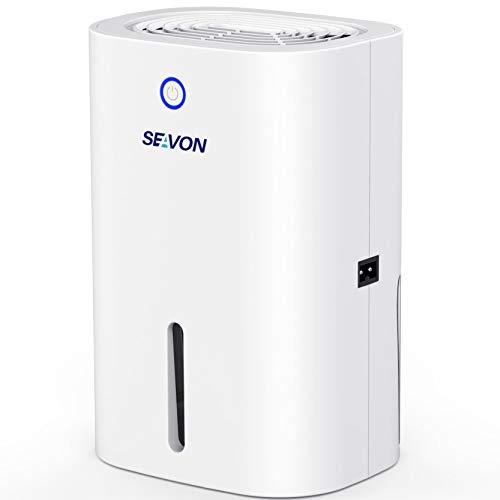 SEAVON Dehumidifier, 2200 Cubic Feet Small Dehumidifiers for Home Closet Bedroom Bathroom RV Basements, 800ml Auto Shut Off Portable Quiet Dehumidifiers for Room