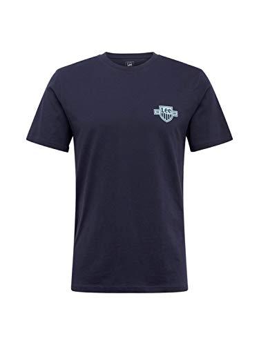 Lee Mens Chest Logo Tee T-Shirt, Sky Captain, XL