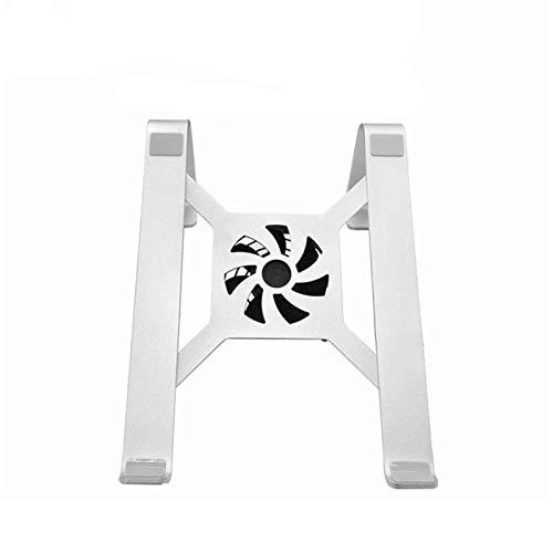 GXY Soporte de la Computadora Portátil de Aleación de Aluminio de Plata con Ventilador Refrigerador para Portátil de 11 a 15 Pulgadas Soporte de Oficina Simple,con Fan