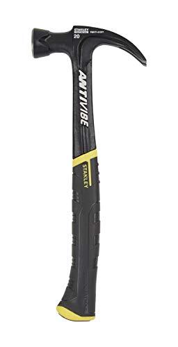 Stanley FatMax Antivibe gebogene Klauenhammer (567 g Kopfgewicht, 340 mm Länge, weicher Handgriff, Stimmgabel-Form) FMHT1-51277