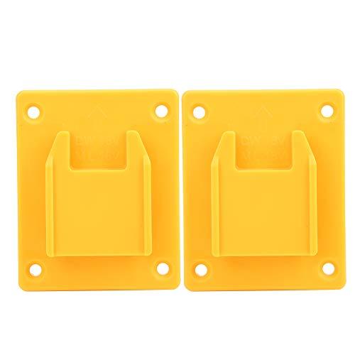 Soporte para máquina de herramientas eléctricas, 2 piezas adecuado para dispositivos de fijación de estantes de pared para máquinas de herramientas eléctricas Milwaukee M18 18v / DEWALT 20V(Amarillo)