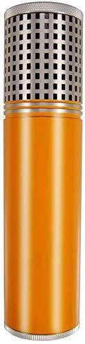 Metal Puro Aluminio tubulares portátiles con los cigarros higrómetro hidratante Tarro Puede sostener 3, tamaño: 19X4.6CM, Caja de Cigarrillos para Hombres (Color : Yellow, Size : 19X4.6CM)