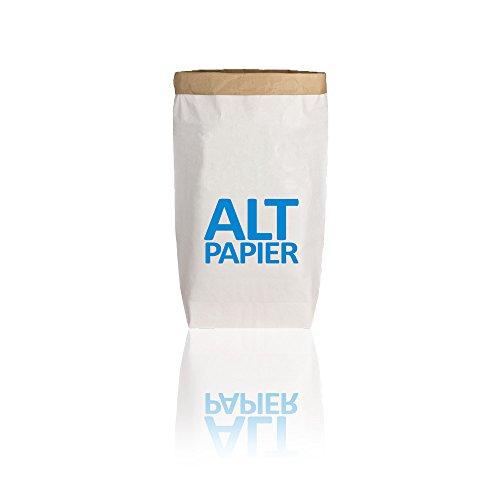 Unbekannt 17;30 Paperbag Gr. L Altpapier weiß/blau