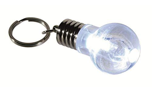 LED blanco bombilla llavero - llavero de bolsillo nostalgia lámpara