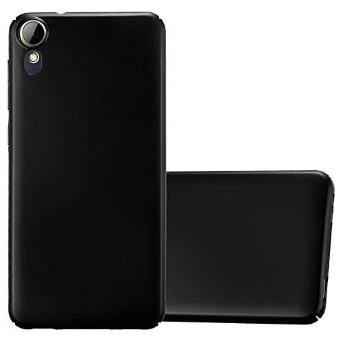 Cadorabo Hülle für HTC Desire 10 Lifestyle/Desire 825 - Hülle in Metall SCHWARZ – Hardcase Handyhülle im Matt Metal Design - Schutzhülle Bumper Back Case Cover