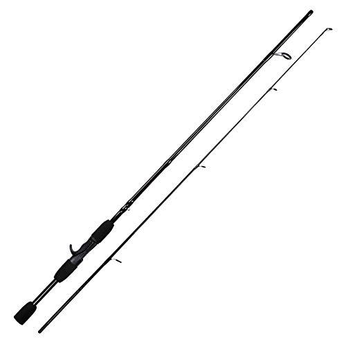 HPPSLT Caña de Pescar Girar la manija Prueba de la Barra de Hilado de Fibra de Carbono Fundición atraer a la Pesca Rod-Black_2.1m Caña de Pescar (Color : Navy Blue, Size : 2.1m)