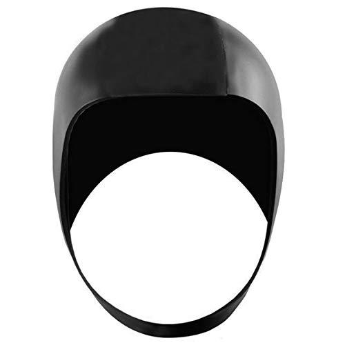 iiniim Gorra de Buceo de Neopreno Gorra de Surf Unisex Surf Gorro Natación para Pelo Largo y Corto Gorro de Baño Silicona Gorra de Baño Impermeable para Deportes Acuáticos Negro Negro M