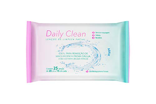 Toalhas Umedecidas para Limpeza Facial, 25 unidades, Daily Clean