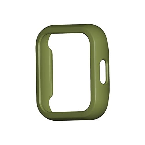 LXF JIAJU Estuche para MI Watch Lite Funda para Parachoques Cobertura De Cobertura Completa Cubierta De Protección De La Pantalla para El Reloj RealMe Accesorios De Reemplazo (Color : Army Green)