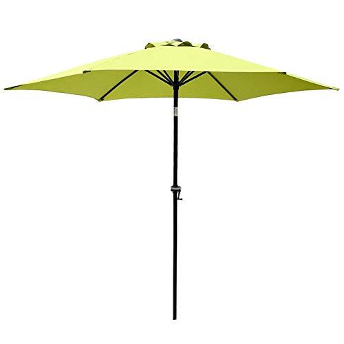 HWF Sombrilla 9pies / 270cm Sombrillas de Mesa de Jardín Sombrilla con Manivela e Inclinación, para Exterior, Jardín, Patio, Playa, Camping, Piscina