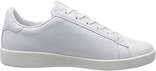 Armani Exchange Action Leather Logo AX Lace Up Sneaker, Zapatillas para Mujer, Negro (Black 00152), 36.5 EU