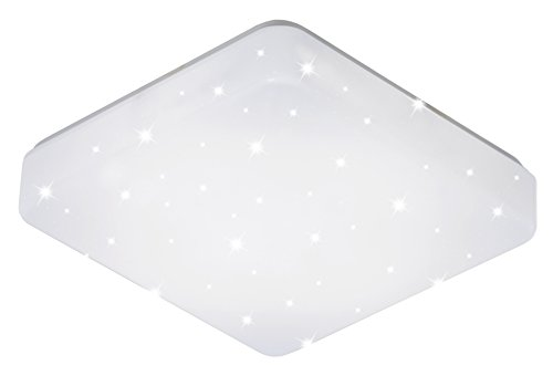 ESTO Lighting 746090 A+, Deckenleuchte, 11.5 W, Weiß/Klar/Weiß, 27 x 27 x 7.5 cm