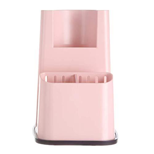 PYROJEWEL Estante de la Cocina Lixin Cubiertos de plástico Rack (Color: Rosa, Tamaño: 20 x 15,5 cm) (Color: Rosa, Tamaño: 20 x 15,5 cm) Adecuado para Dormitorio, Sala de Estar, baño, Kit