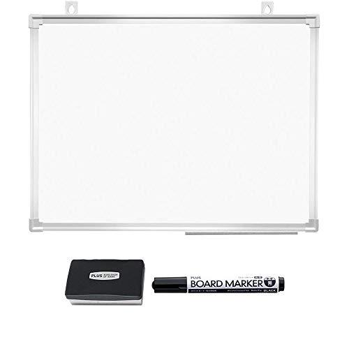 プラス ホワイトボード 壁掛け 幅600×高さ450mm PWK-0604SS マーカー・イレーザーセット 428-169